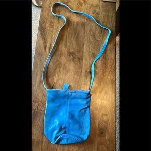 Handbags - SMALL Bright Blue Leather Crossbody Bag